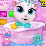 Baby Angela Bathing Time