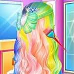 Elsa's Rainbow Hairstyle Design