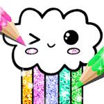 Kawaii Coloring Book Glitter Game